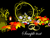 Vector clipart: Grunge autumn background,