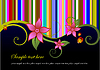 Vector clipart: Floral background with beetles