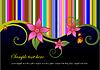 Векторный клипарт: Цветочный фон с жуками