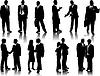 Vektor Cliparts: Silhouetten von Büro-Menschen