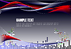 Vector clipart: Futuristic display background