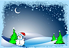 Vector clipart: Greeting card for Merry Christmas or Happy New Year