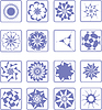 Vector clipart: 16 design elements