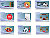Vector clipart: folders