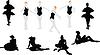 Vector clipart: ten silhouettes