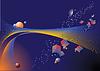Vector clipart: abstract stars sky
