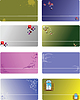 Vector clipart: Set 8 templates for business card