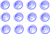 Vector clipart: Set of zodiac signs