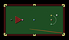 Vector clipart: Snooker table and cue