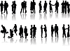 Vector clipart: Office people silhouettes