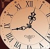 Vector clipart: Antique looking clock