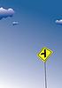 Vector clipart: Cross road sign. Traffic road sign symbol