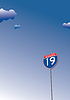 Vector clipart: Interstate. Traffic road sign symbol