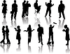 Vector clipart: silhouettes worker