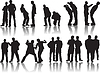 Vector clipart: Men silhouettes