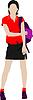 Vector clipart: School girl