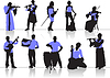 Vector clipart: orchestra silhouettes