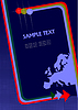 brochure cover with Europe silhouette