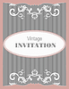 Vector clipart: Invitation vintage card. Wedding or Valentine`s Day.