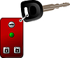 Vector clipart: Car key with remote control . Vect
