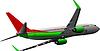 Vector clipart: Airplane on air