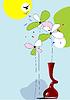 Векторный клипарт: летняя цветочная открытка