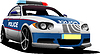 Vector clipart: Police car. Municipal transport.