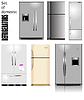 Векторный клипарт: Большой набор бытовых холодильников