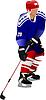 Vector clipart: Ice hockey players