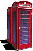 Векторный клипарт: красная Лондонская телефонная будка