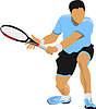 Векторный клипарт: Теннисист