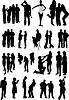 Векторный клипарт: силуэты людей