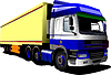 Векторный клипарт: Цветная мини-грузовик