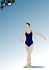 Векторный клипарт: Танцоры балета женщина