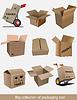 Векторный клипарт: Большая коллекция коробок картонной упаковки
