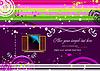Векторный клипарт: Фиолетовый пристрастилась фоне окна изображения