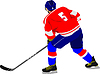 Vector clipart: Ice hockey players.