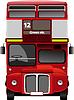 London double Decker red bus | Stock Illustration