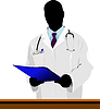 Medical doctor with stethoscope   Stock Vector Graphics