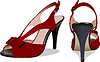 Fashion woman dark red shoes