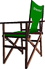 ID 3372730 | Llustration von Regisseur `s Stuhl | Stock Vektorgrafik | CLIPARTO
