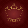 Vector clipart: Gold ornament on brown background