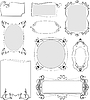 Vector clipart: Collection of ornate frames