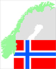 Vector clipart: Norway - set with flag and map