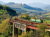 Train on railway bridge | Stock Foto