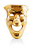 Golden mask | Stock Illustration