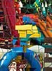 Kolorowe mozaiki lustro   Stock Foto