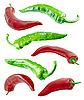 Photo 300 DPI: Red and green chilli peppers