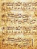 Фото 300 DPI: бумага с музыкальными нотами