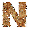 Rusted letter N | Stock Foto